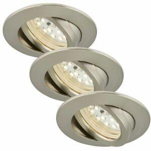 Briloner 7232-032 LED Einbauleuchten Set 3x5,5W Nickel matt Dimmbar IP23