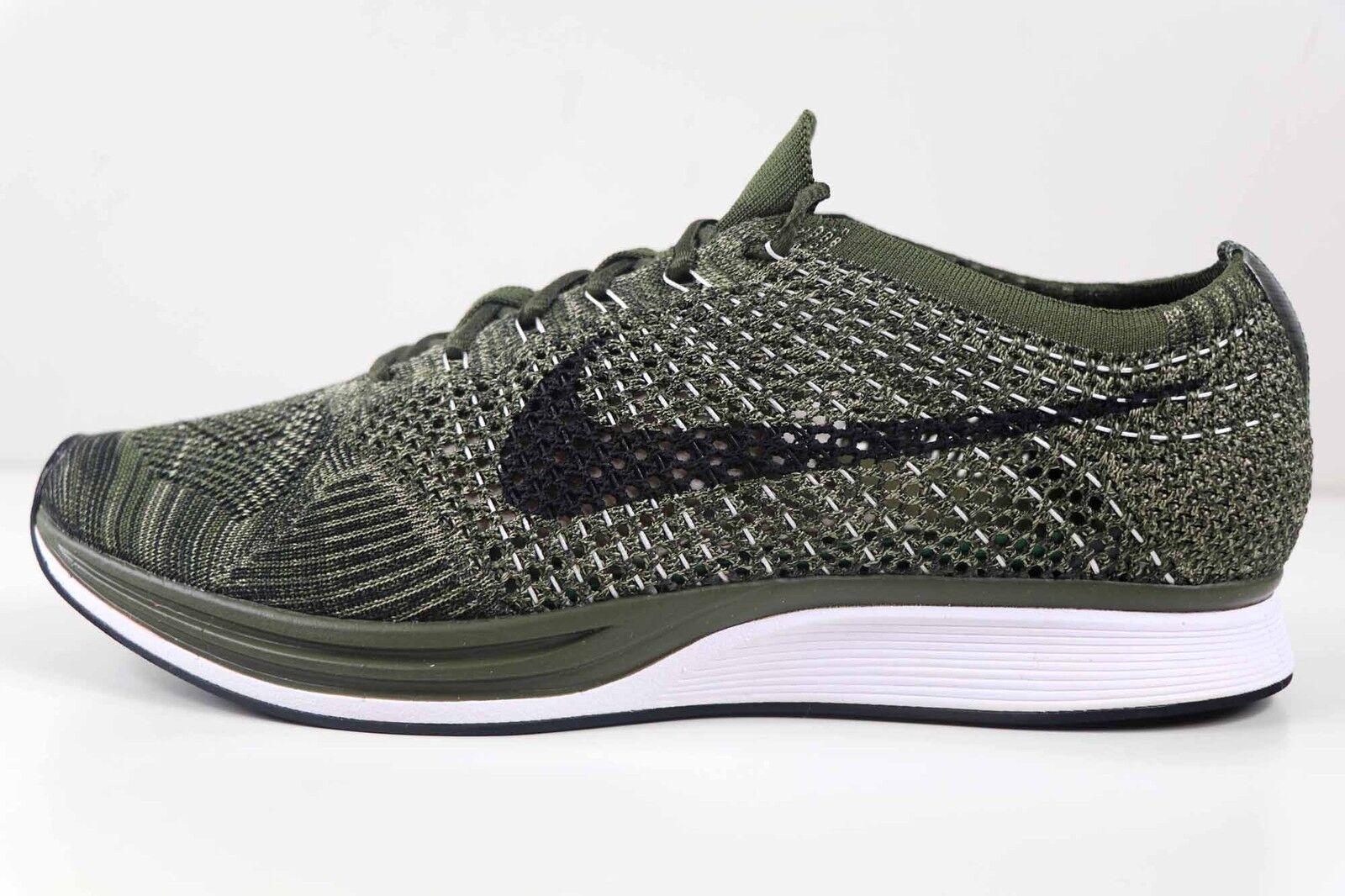 Nike Flyknit Racer Rough Green Black 8862713 300 Size 7 Womens 8.5 New in Box