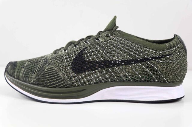 dff9e75ad909 Nike Flyknit Racer Rough Green Black 8862713 300 Size 7 Womens 8.5 New in  Box
