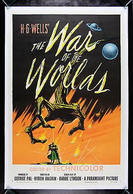 WAR OF THE WORLDS * CineMasterpieces ORIGINAL MOVIE POSTER SCI FI ALIEN 1953