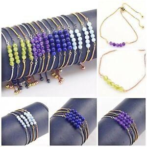 Elegant-Women-Party-Jewelry-Alloy-Gemstone-Adjustable-Chain-Bracelet-Gemstones