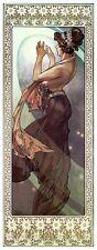 Pole Star Alphonse Alfons Mucha Art Nouveau Deco Picture Poster Print Stars NEW