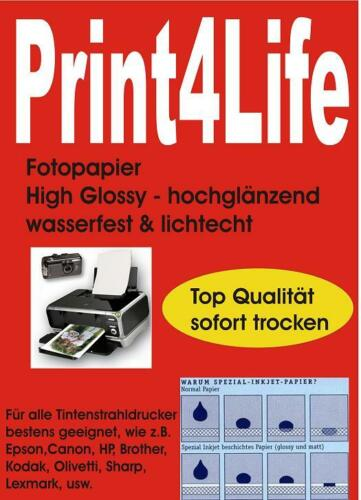 A3 A4 10x15 13x18 Fotopapier Inkjet hochglänzend glossy 150g 180g 210g 240g