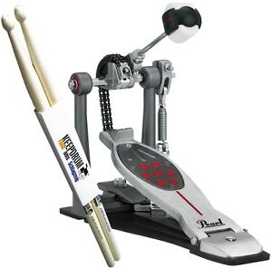 Pearl-P-2050C-Eliminator-Redline-Einzelpedal-Keepdrum-Drumsticks
