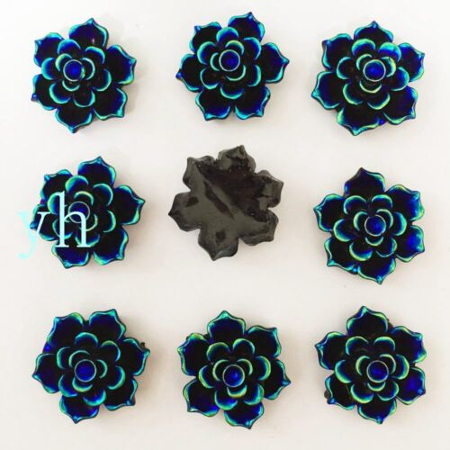 New 30PCS 20mm AB Resin Flower FlatBack stone Scrapbooking Embellishment DIY