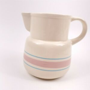 McCoy Pitcher Canister Pink Blue Stonecraft Stripe Kitchen Container Jar Banded