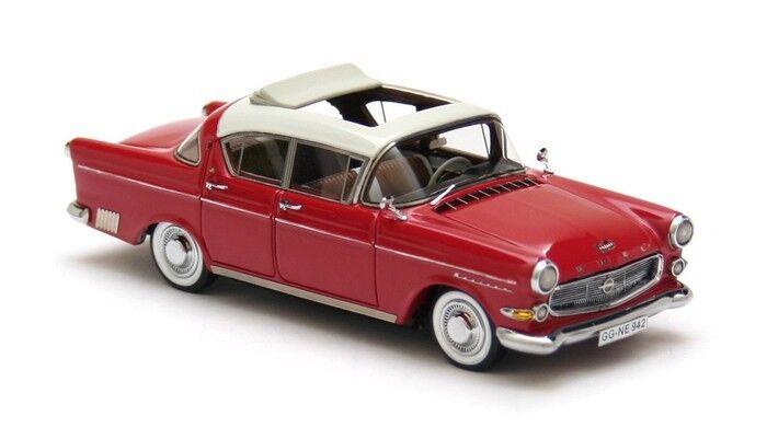Opel capitan 2.5 white red 1958 1 43 neo