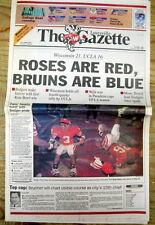 <1994 newspaper WISCONSIN BADGERS Win ROSE BOWL def UCLA Bruins COLLEGE FOOTBALL
