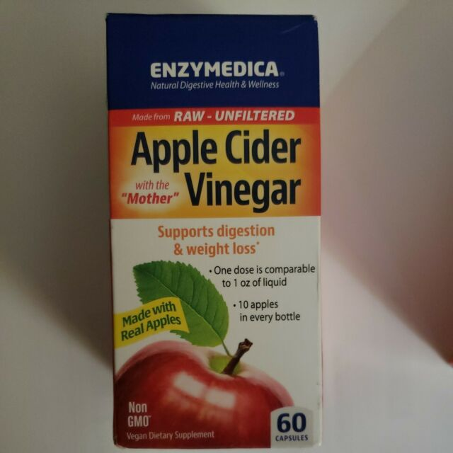 Enzymedica - Apple Cider Vinegar Supports Digestion & Weight Loss - 60 Capsules