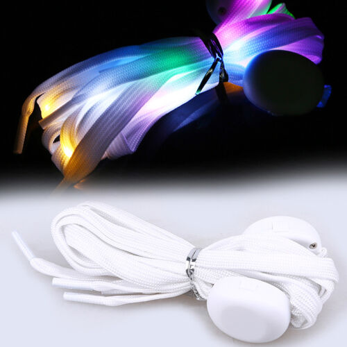 LED Shoelace Flash Luminous Light Up Glow Nylon Strap Shoe Laces For Party Disco