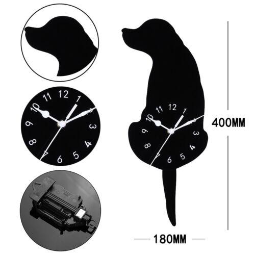 Other Home Decor Clocks Dog Swinging Tail Pendulum Wall Clock Creative Animal Shaped Clock Home Decor F3 Home Garden Vibranthns Lk