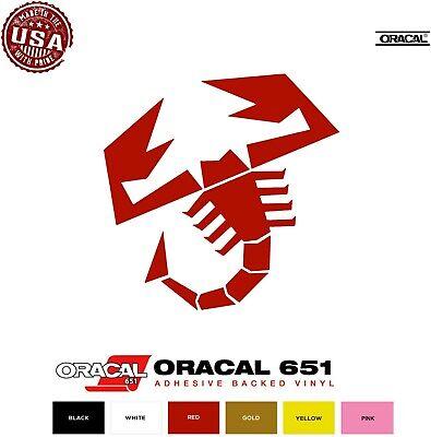 SCORPION FIAT ABARTH Vinyl Decals Sticker BUY 2 GET 1 FREE Automatically
