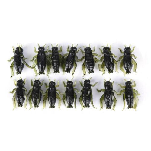 20X Soft Fishing Lures Pesca Lightweight Cricket Insect Lure Simulation BaitsK7T