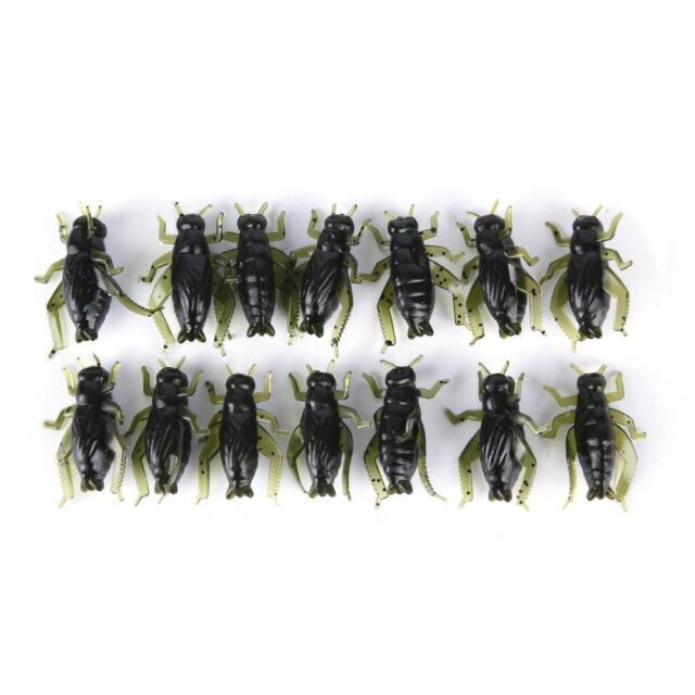 20Pcs Soft Fishing Lures Pesca Lightweight Cricket Insect Lure Simulation Bai-SL