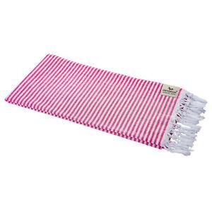 Hamamtuch-Fouta-Streifen-pink-leicht-hauchzart-Pestemal-90-x-180-cm-100-Cotton
