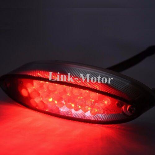 Rear Tail Motorcycle Integrated Light Black Smoke Lens LED Universal fit 12V