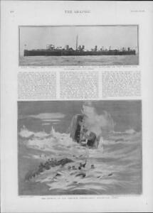1901-Antique-Print-NAVAL-Cobra-Torpedo-Boat-Destroyer-North-Sea-Wreck-151