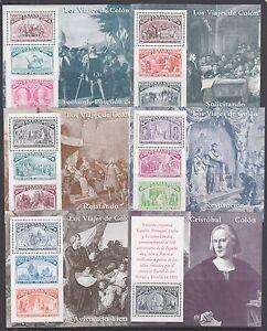 Spain-Sc-2677-2682-MNH-1992-Columbus-Souvenir-Sheets-cplt-set-VF