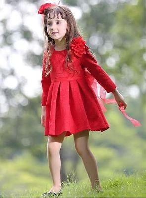 Stunning Girls Special Occassion Jacquard  Princess Dress With Shoulder Flora