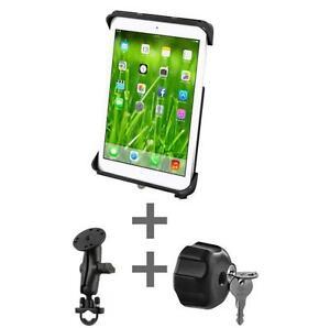 SUPPORT-SYSTEME-ANTIVOL-cle-GUIDON-RAM-B-149Z-TABL6U-MOTOROLA-XOOM-iPad-Air