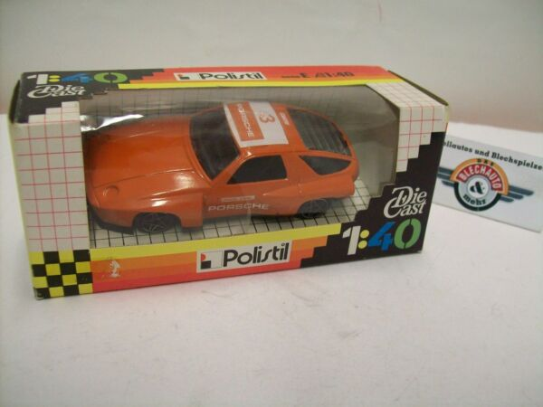 Analitico Porsche 928 Turbo #3, Arancione, 1981, Polistil (made In Italy) 1:40 Vendite Economiche 50%