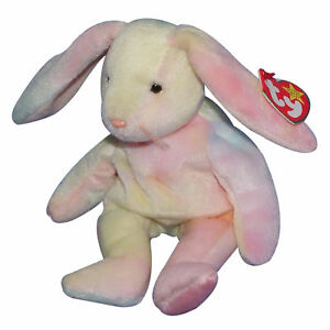 Easter colors will vary MWMT Ty Beanie Baby Hippie Bunny 1998