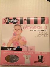 GLIMMER body ART glimmerize IT glitter TATTOO transfer KIT PRINCESS