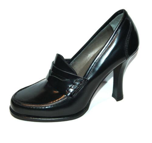 Vitello Loafer Black 10 Off 37 Pump cuoio Misura ½ H Suola in da Penny cm xItqdI