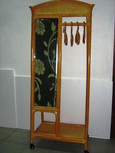 Attaccapanni Per Ingresso.Dettagli Su Attaccapanni Ingresso Appendiabiti Appendiabito Specchiera Legno Bambu