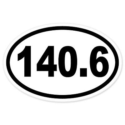 3/'/' or 5/'/' Triathlon Sport Badge Car Bumper Sticker Decal