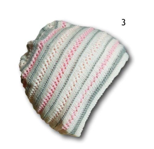 Newborn Baby Girl Beautiful Spring//Autumn Acrylic Stripy Hat Cap With 0-1 month