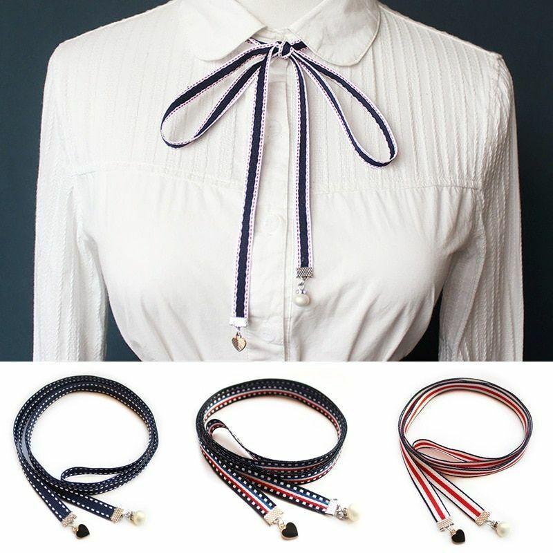 Bowtie Clothing Shirt Butterfly Polyester Cotton Handmade Ribbon Women Necktie