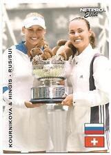 2003 NETPRO ELITE ANNA KOURNIKOVA MARTINA HINGIS #S7 ROOKIE RC STARTER PREVIEW