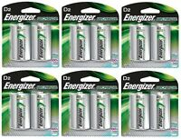Energizer Nh50bp-2 Rechargeable D Nimh Batteries (6 Packs Of 2 = 12 Batteries) on sale