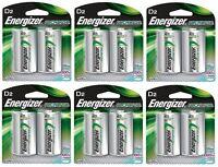 Energizer Nh50bp-2 Rechargeable D Nimh Batteries (6 Packs Of 2 = 12 Batteries) on sale