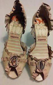 Spanish-made-Leather-summer-peep-toe-heels-pink-size-35