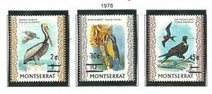 Album-Treasures-Montserrat-Scott-337-339-Birds-Overprints-Mint-NH