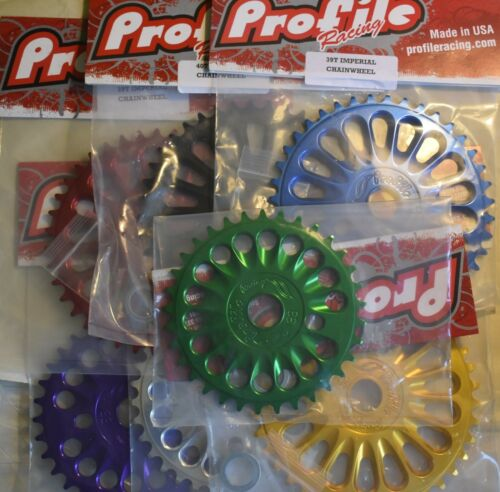 Profile Imperial Chainwheel Sprocket for BMX Fat 29r Bike 33 39 44 t Many Colors
