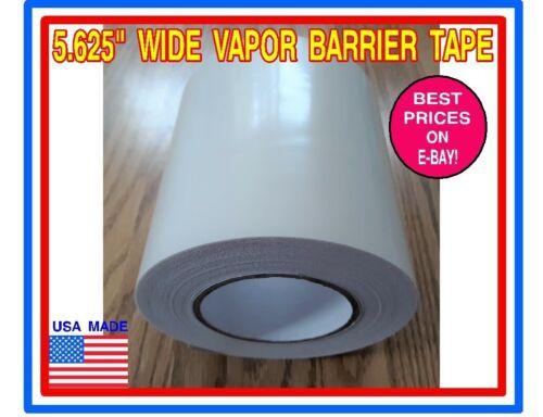 "Polyethylene Vapor Barrier Tape Wide 5.625/"" x 180/' for Encapsulation Crawl Space"