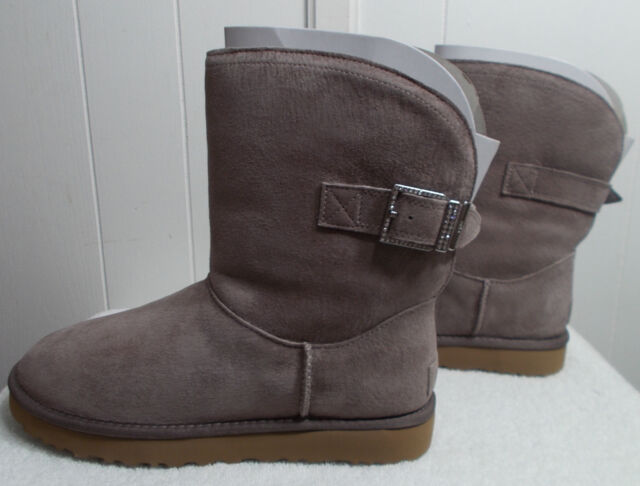 NEW UGG Boots REMORA BUCKLE Stormy Gray Women's Size 10