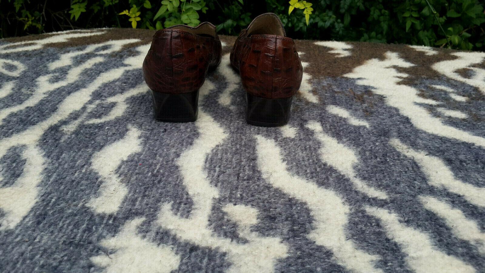 Peter Kaiser brown crocodile pattern pattern pattern leather shoes UK size 5.5 EU size 38.5 dfe0cb