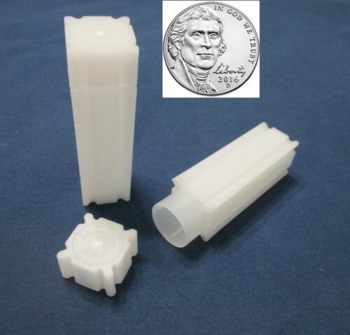 5 Nickel Square Coin Tubes  Archival Quality  Nickels