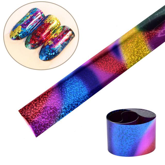 1m Gradient Starry Sky Nail Art Foil Paper Manicure Sticker Decor