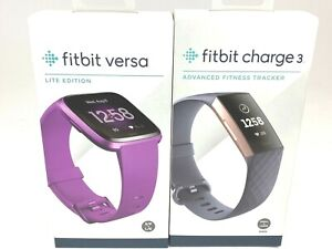 Fitbit Charge 3, Rose Gold Plus Fitbit Versa Purple Lite Edition Brand New