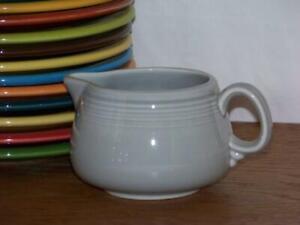 Fiesta-PEARL-GRAY-Small-Figure-8-Creamer-Discontinued-Color