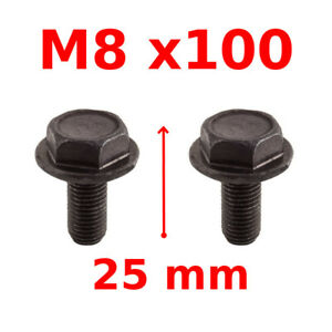 Clamping screw cranks m8x100 case axis carre steel pedalier velo mtb road