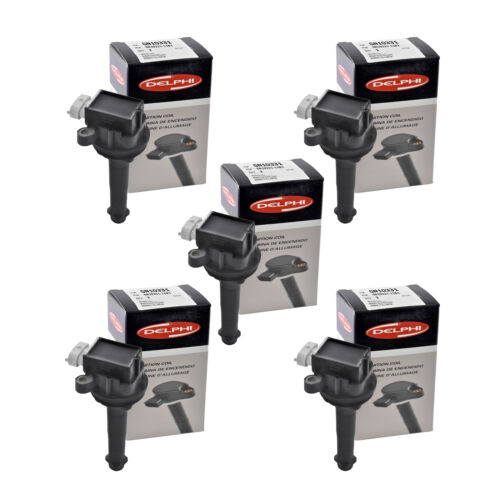Set of 5 Delphi Ignition Coil GN10331 For Volvo S60 S40 C30 V50 V70 2004-2014
