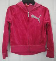 PUMA NWT Girl Velour Hoodie Sweatshirt Track Jacket Top Shirt 7 8 10 12 14 S M L