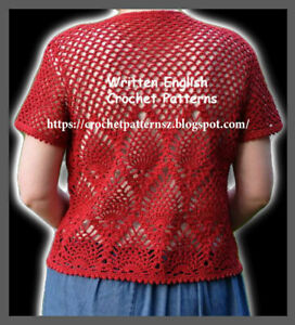 Details about Crochet Pattern/ PDF Download English Pattern for Crochet  Cardigan 150