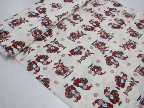 Baumwolle Stoff Weihnachten Wichtel Creme EUR 9,98//m